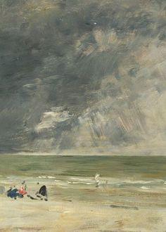 Eugène Boudin, La plage à Trouville (1890) on ArtStack #eugene-boudin #art