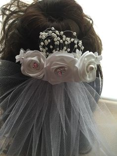 First communion veil by 3BusyBirds on Etsy