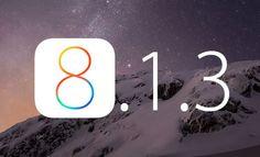 iOS 8.1.3 já se encontra disponivel