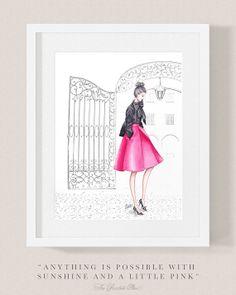 Fashion illustration print Fashion art by ThePaintedShoeArt, $15.00