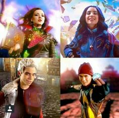 """Descendants"" Evil Four - Mal, Evie, Carlos and Jay"