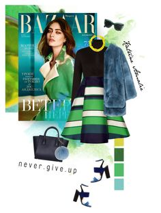 """""""never.give.up"""" by katrine-amalie ❤ liked on Polyvore featuring moda, BCBGMAXAZRIA, Lanvin, Marni, Paul Andrew e Slate & Willow"""