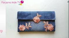 DIY wallet for girls / no sew Jeans purse Diy Wallet No Sew, Diy Wallet Pattern, Diy Bags No Sew, Tote Pattern, Diy Handbag, Diy Purse, Sewing Jeans, Diy Jeans, Wallets For Girls