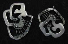 Sterling Pin and Pendant Set by Frank Miraglia