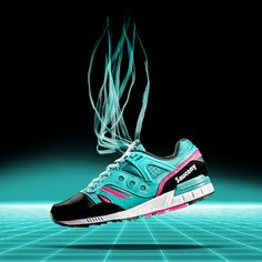 """Saucony Grid SD """"Games"""" - Teal / Black - Order Now at Aphrodite Clothing."""