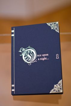 Boxed fairytale laser cut and gold foiled invitation