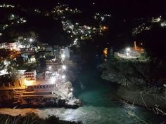 Night View of Devprayag in Chardham Route