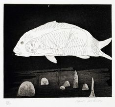 David Hockney - The boy hidden in a fish (Six Fairy Tales from the Brothers Grimm, Original Etchings)
