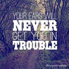 Your Ears Will Never Get You In Trouble @magnetictweeter Good Listener, 5 Ways, You Got This, Ears, Learning, Life, Studying, Its Ok, Ear
