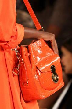 Mini bag arancione  Ralph Lauren Primavera/Estate 2015