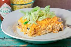 Skinny Mexican Tortilla Casserole | FaveHealthyRecipes.com