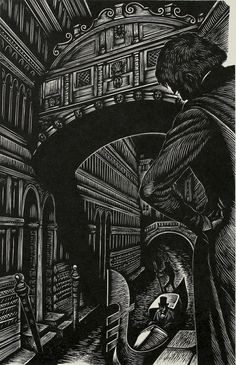 The Assignation (From The Tales Of Edgar Allan Poe), Wood engraving, 1944