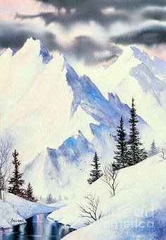 Image result for simple watercolor landscapes