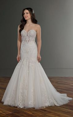 Beaded Mermaid Wedding Dress with Sheer Bodice - Martina Liana 1092 Bridal Gowns, Wedding Gowns, Lace Wedding, Dream Wedding, Lace Mermaid Wedding Dress, Mermaid Dresses, Designer Wedding Dresses, Fit And Flare, Marie