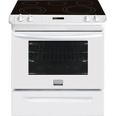 Frigidaire Gallery 4.6 Cu. Ft. Self-Clean Smooth-Top Electric Range (CGES3065PW) - White | Best Buy Canada