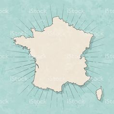 France map in retro vintage style - Old textured paper royalty-free france map in retro vintage style old textured paper stock vector art & more images of abstract Map Vector, Free Vector Art, Vintage Style, Retro Vintage, Vintage Fashion, France Map, Retro Illustration, Paper Texture, Maps