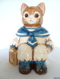 Vintage Wilbur The Cat Cookie Jar Glass Eyes Sold at Mervyn's in The 80's Cute