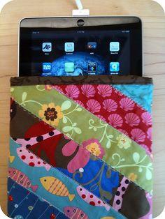 iPad sleeve three waysTutorial on the Moda Bake Shop. http://www.modabakeshop.com