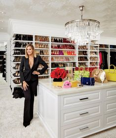 Khloe Kardashian shows off her amazing closet in the latest issue of Architectural Digest! | toofab.com