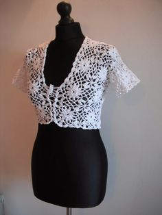 Free crochet patterns and video tutorials: how to crochet white bolero free pattern tutorial