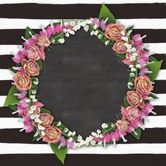 Floral Frame with Stripes ~ Shabby Blogs: printables
