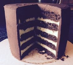 Mini Layer Cake VB 2015 THM Trimtastic Chocolate Zucchini Cake & Truffle Mint filling, Alton Brown's ganache, whipped