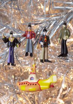 """Beatles fans...Ornaments from """"Yellow Submarine""""."""