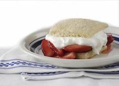 A 5-star recipe for All-American Strawberry Shortcake made with strawberries, orange juice, sugar, orange, butter, sour cream, sugar or honey, flour