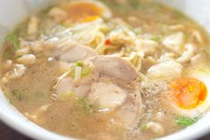 If you're craving the thick creamy broth of Tonkotsu ramen, but don't eat pork, this chicken alternative is just as rich and delicious.
