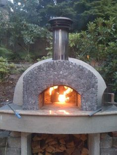 Oven installations are made easy with our kit ovens. See our various lines of pizza ovens and how they were installed with our pizza oven picture gallery now! Wood Oven, Wood Fired Oven, Pizza Oven Outdoor, Outdoor Cooking, Outdoor Rooms, Outdoor Living, Outdoor Decor, Oven Design, Bread Oven