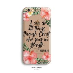 H157 - I CAN DO ALL THINGS THROUGH CHRIST - PHILIPPIANS 4:13 - Christian iPhone Case with Bible Verse
