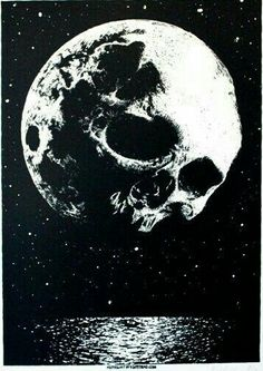 Skull in the moon