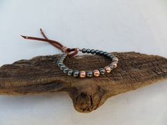 Hematite and Copper Bracelet Stacking by ColeTaylorDesigns on Etsy