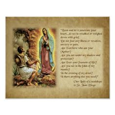 Words of Our Lady of Guadalupe to St. Juan Diego. Poster