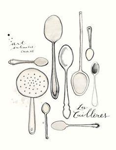 EvaJuliet original illustration. Perfect for the kitchen!
