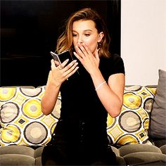 """milliebobbybrowndaily: """"Millie Bobby Brown in Samsung's Galaxy Fold: The First Experience commercial """" Millie Bobby Brown, Post Malone, Bobby Brown Stranger Things, Browns Fans, Brown Outfit, Sadie Sink, Stranger Things Netflix, Celebs, Celebrities"""