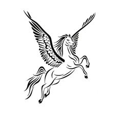 Maybe wing/hoof position? h/t reversed from http://jsharts.deviantart.com/art/Tribal-Pegasus-Tattoo-Design-397860143