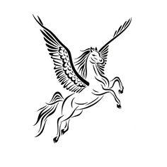 Maybe wing/hoof position? h/t reversed from http://jsharts.deviantart.com/art/Tribal-Pegasus-Tattoo-Design-397860143