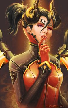 Devil Mercy by rchella.deviantart.com on @DeviantArt - More at https://pinterest.com/supergirlsart/ #overwatch #fanart