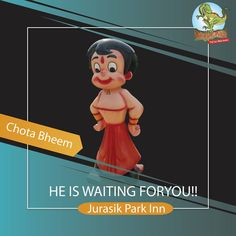 Is your child a fan of Chhota bheem? Then bring them to meet him at Jurasik Park Inn! Call at 8882388843 ☎️ . Best Amusement Parks, Delhi Ncr, Cool Places To Visit, Children, Kids, Meet, The Incredibles, Fan, Adventure
