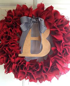 Another Crafty Day: Pinterest Challenge: Alabama Football Season Burlap Wreath