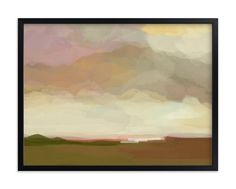 """pink meadows"" - Art Print by Alison Jerry Designs in beautiful frame options and a variety of sizes."