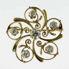 Victorian symmetry with old european cut diamonds