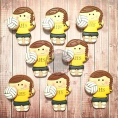 1000 Ideas About Volleyball Cookies On Pinterest