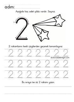 Top 40 Examples for Handmade Paper Events - Everything About Kindergarten Preschool Number Worksheets, English Worksheets For Kids, Numbers Preschool, Preschool Education, School Worksheets, Learning Numbers, Preschool Curriculum, Kindergarten Math, Learning Activities