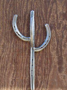 Horseshoe Cactus Hook  Horseshoe Decor Horseshoe Hook  Hook