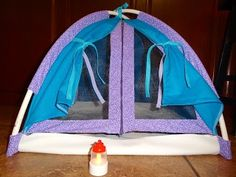 Adventures in Domesticland: American Girl Tent and Lantern