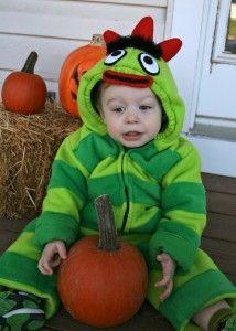 Jax's Homemade Brobee (Little Green Monster) Costume