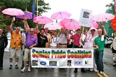 The LGBT Senior Pride Coalition marched in the Boston Pride parade. Local organizations are developing programs geared toward meeting the population's needs. Boston Pride Parade, Elderly Care, Organizations, Lgbt, Organizing Clutter, Organizers, Getting Organized, Organization Ideas