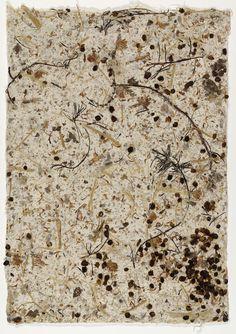 Wild Edible Drawing # 1990 - Handmade paper of mulberry, burdock, hibiscus stems, barley, hijiki and clover Nam June Paik, John Cage, Textile Fiber Art, Wild Edibles, Paper Artwork, Museum Of Modern Art, Fine Art, Drawings, Artist